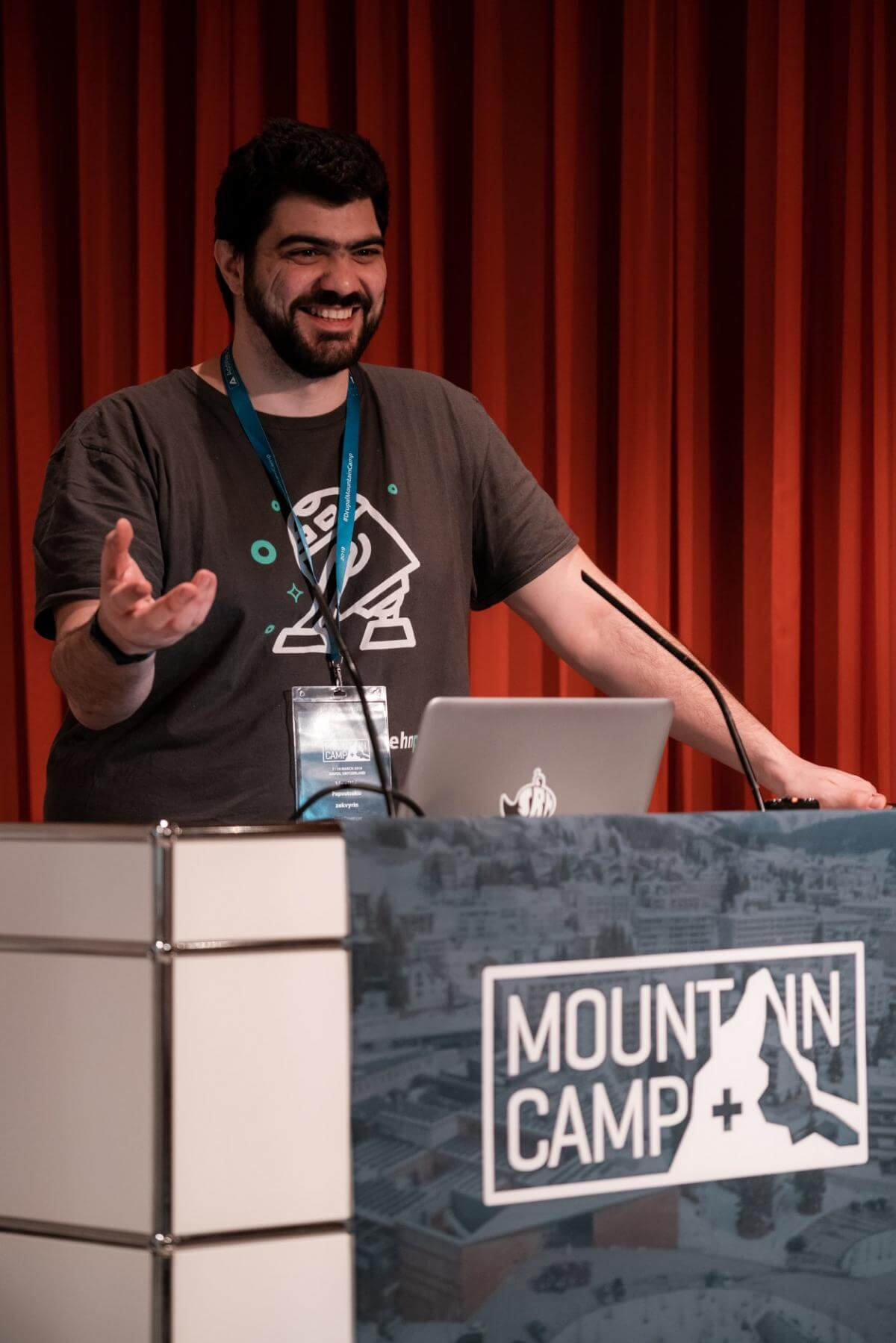 Vasilis at drupal camp